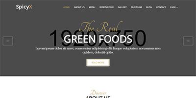 SpicyX Restaurant HTML website