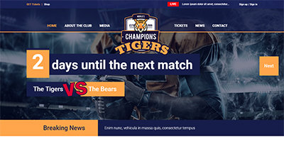 Sportsteam HTML Website