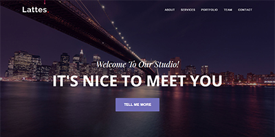 Lattes Bootstrap HTML template
