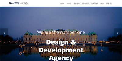 Nantes Website template